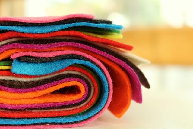 barevné plsti