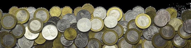 drobné mince, rubly
